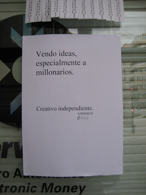 Vendo ideas, especialmente a millonarios