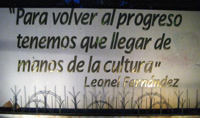 Para volver al progreso tenemos que llegar de manos de la cultura